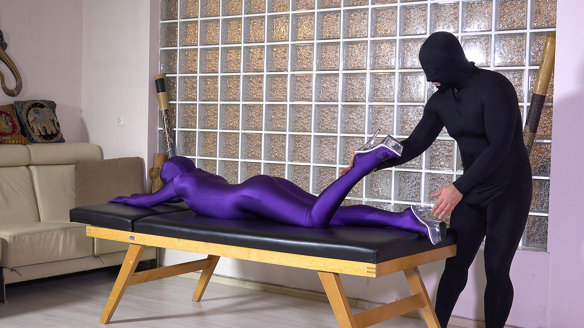 Erotic Massage Zentai Duo
